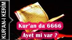 Kur'an da 6666 Ayet mi var ?