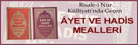 Ayet Hadis Mealleri