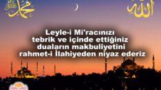 Leyle-i Mi'rac Tebrikler